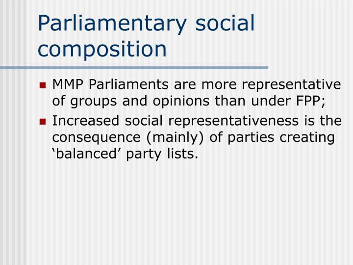 Parliamentary social composition