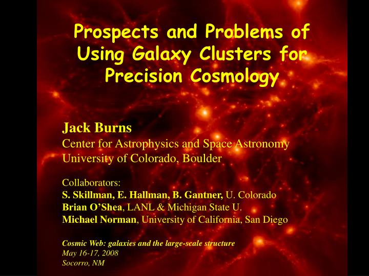 Prospects and Problems of Using Galaxy Clusters for Precision Cosmology