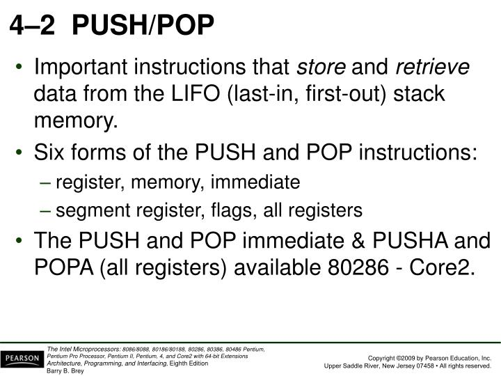 4–2PUSH/POP