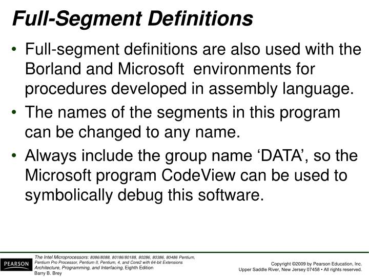 Full-Segment Definitions