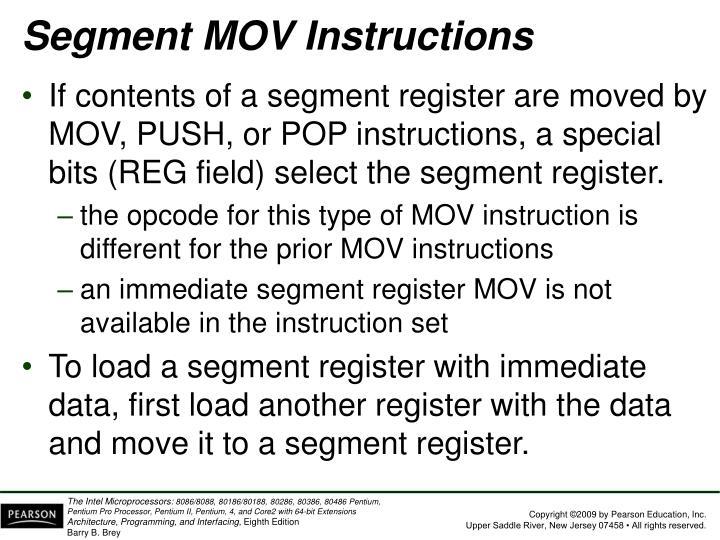 Segment MOV Instructions