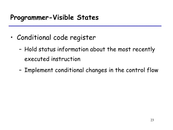 Programmer-Visible States