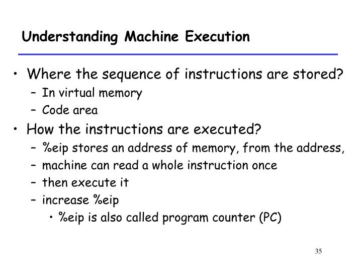 Understanding Machine Execution
