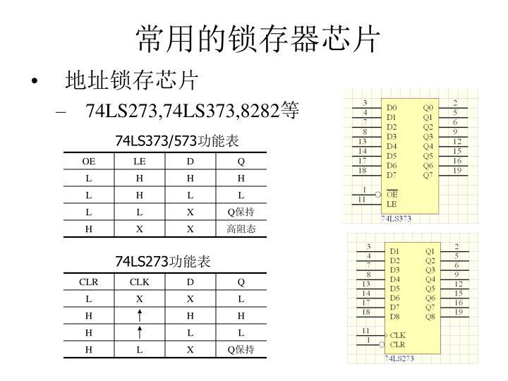 常用的锁存器芯片