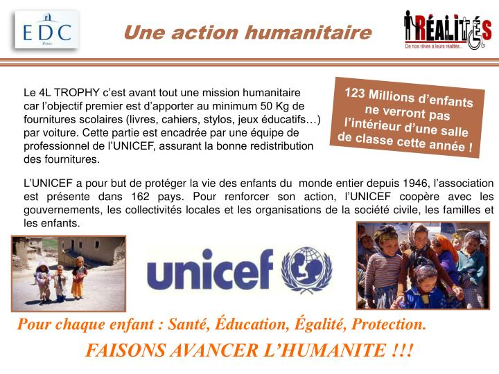 Une action humanitaire