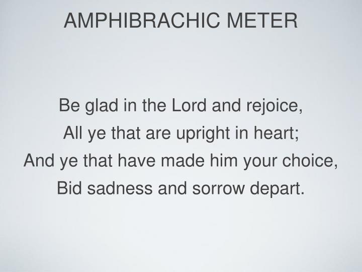 amphibrachic meter