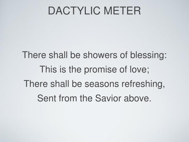 dactylic meter
