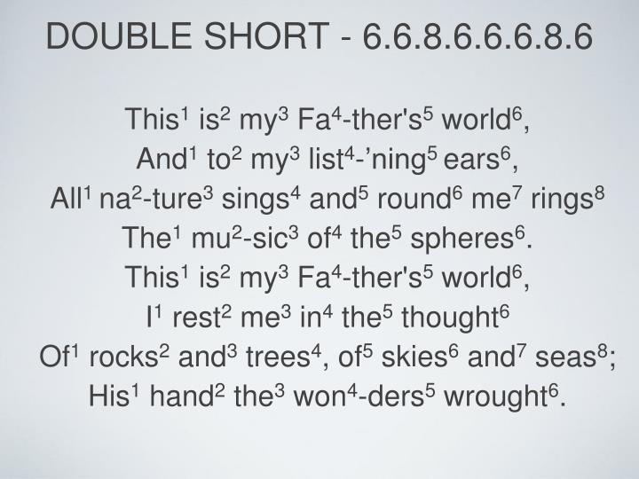 double short - 6.6.8.6.6.6.8.6