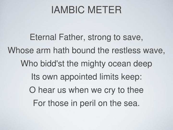 iambic meter
