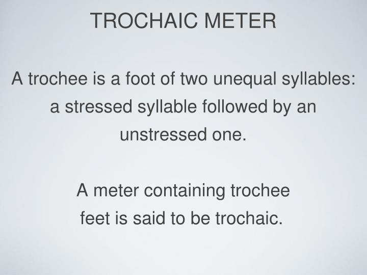 TROCHAIC METER