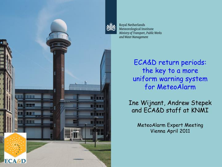 ECA&D return periods: