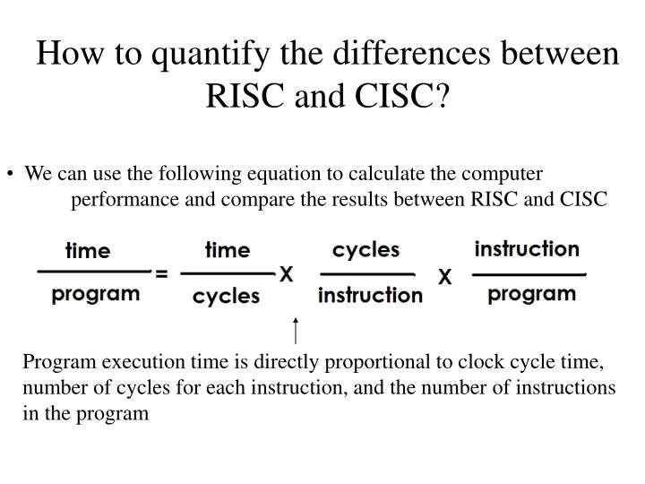 How to quantify the differences between RISC and CISC?