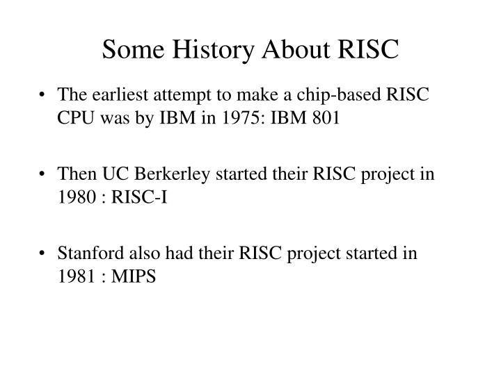 Some History About RISC