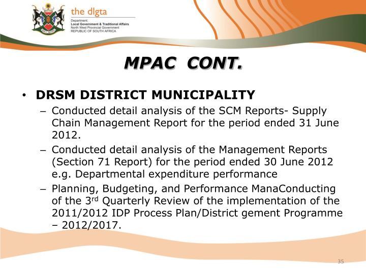 MPAC  CONT.
