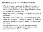 about the goals of social movements