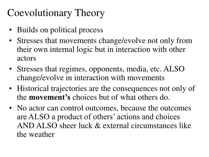 Coevolutionary Theory