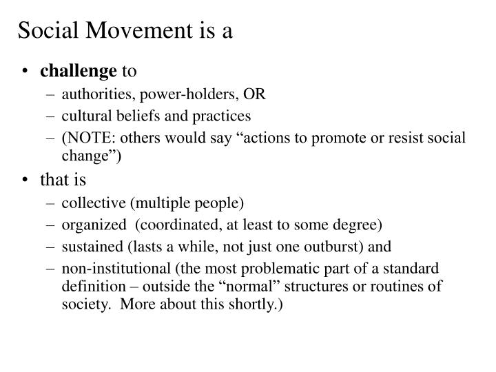 Social Movement is a