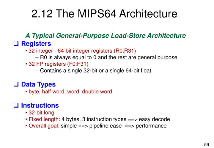 2.12 The MIPS64 Architecture