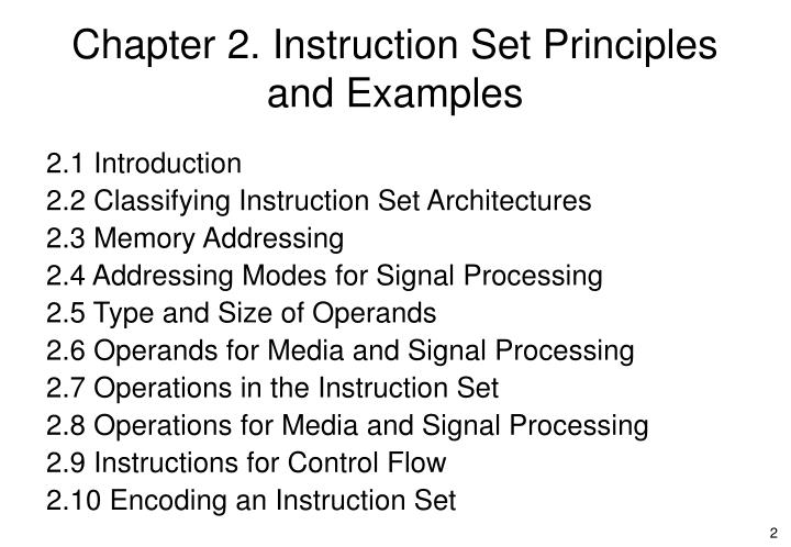 Chapter 2 instruction set principles and examples1
