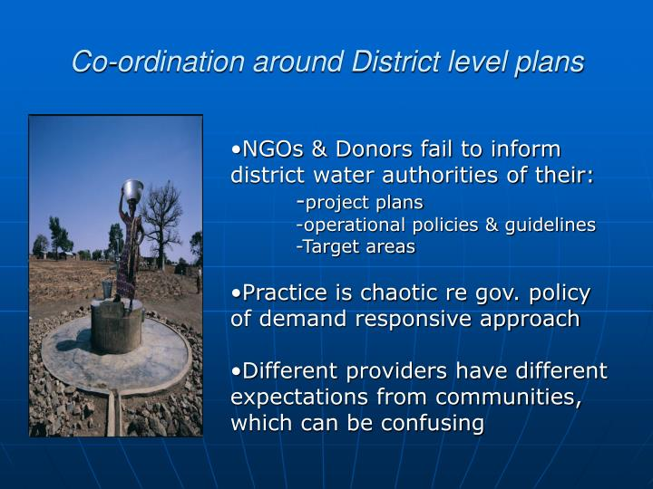 Co-ordination around District level plans
