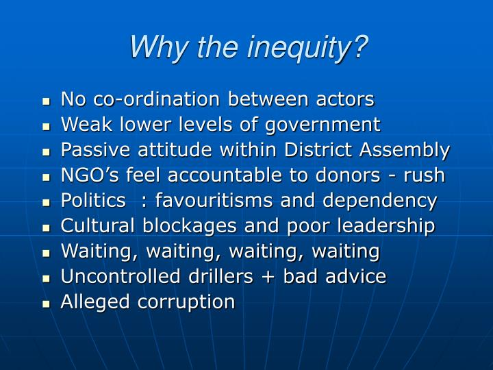 Why the inequity?
