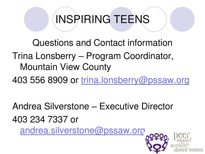INSPIRING TEENS