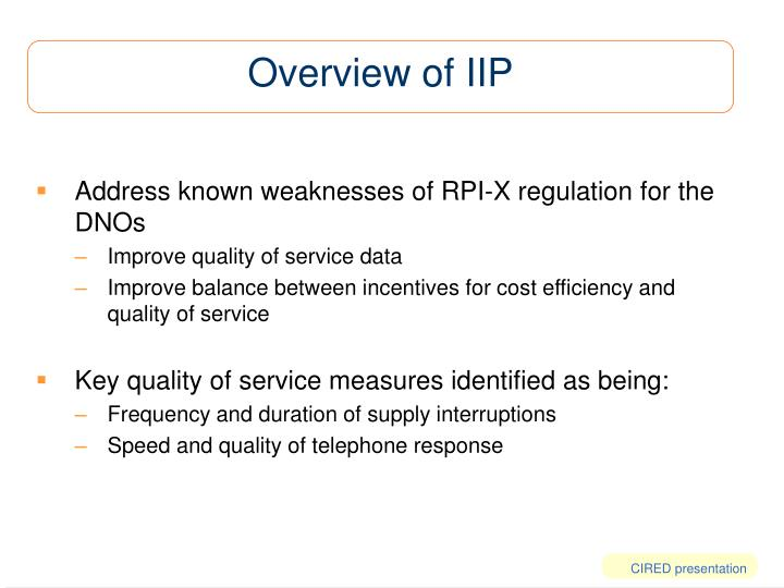 Overview of iip