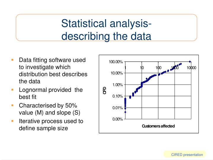 Statistical analysis-