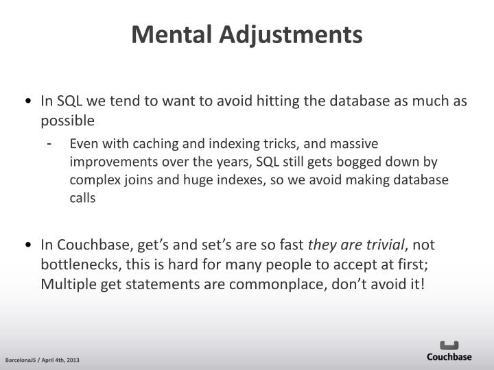 In SQL we tend to want to avoid hitting the database as much as possible