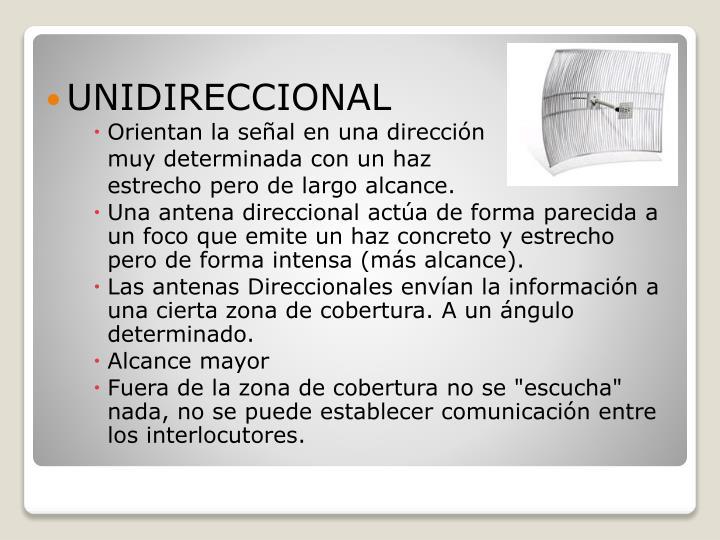 UNIDIRECCIONAL