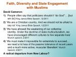 faith diversity and state engagement with muslims