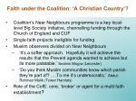 faith under the coalition a christian country1