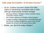 faith under the coalition a christian country2