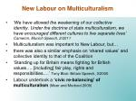 new labour on multiculturalism