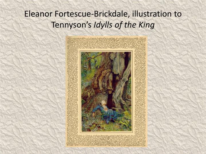 Eleanor Fortescue-Brickdale, illustration to Tennyson's