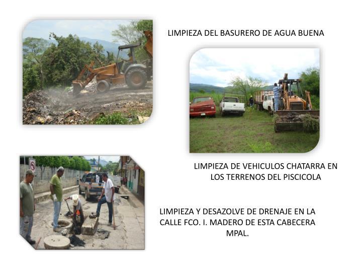 LIMPIEZA Y DESAZOLVE DE RAYAS Y CANALES EN CABECERA MUNICIPAL