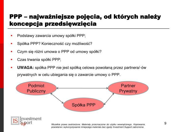 PPP – najważniejsze pojęcia, od których należy koncepcja przedsięwzięcia