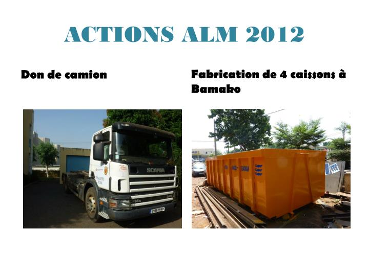 ACTIONS ALM 2012