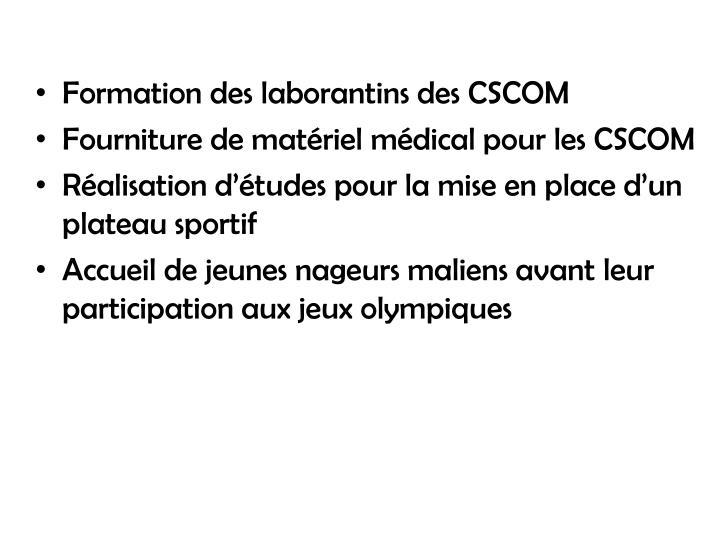 Formation des laborantins des CSCOM