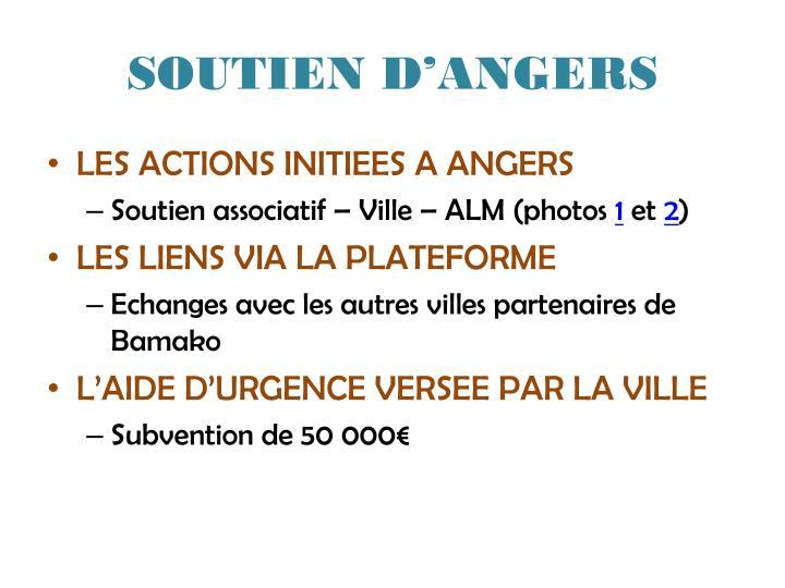 SOUTIEN D'ANGERS