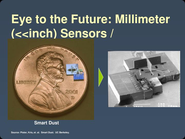 Eye to the Future: Millimeter (<<inch) Sensors / Computing