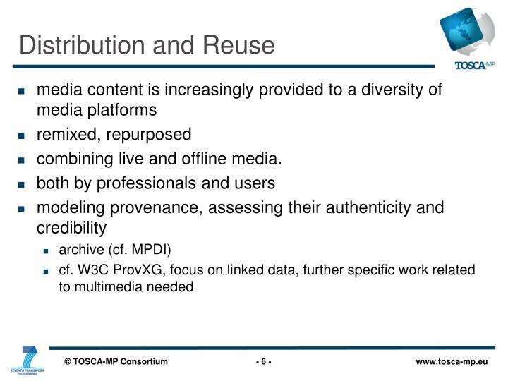 Distribution and Reuse