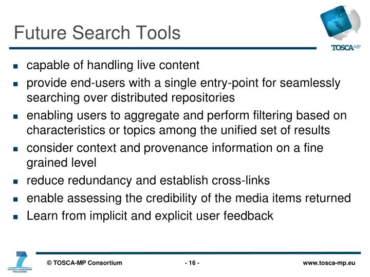 Future Search Tools