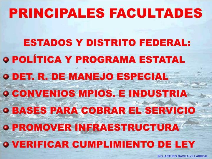 PRINCIPALES FACULTADES