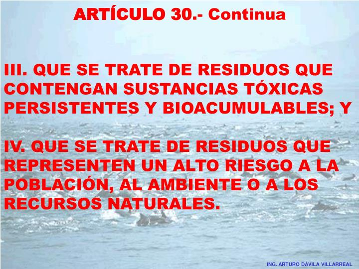 ARTÍCULO 30