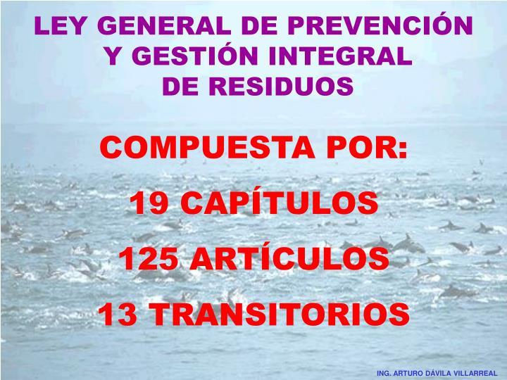 LEY GENERAL DE PREVENCIÓN