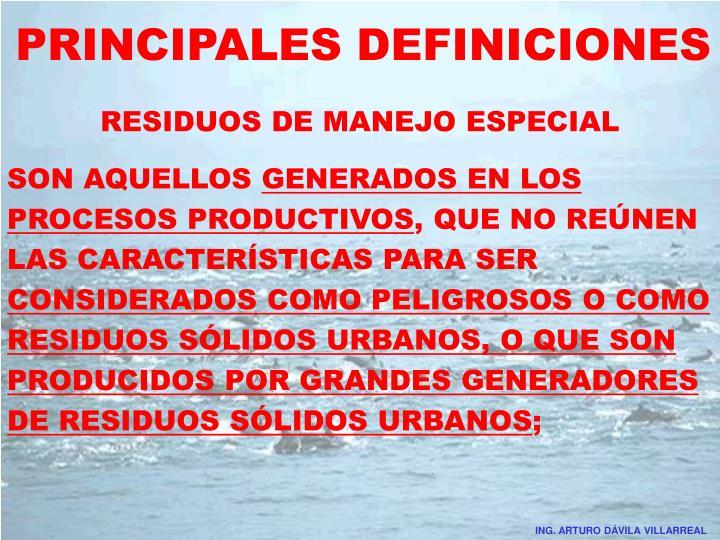 PRINCIPALES DEFINICIONES
