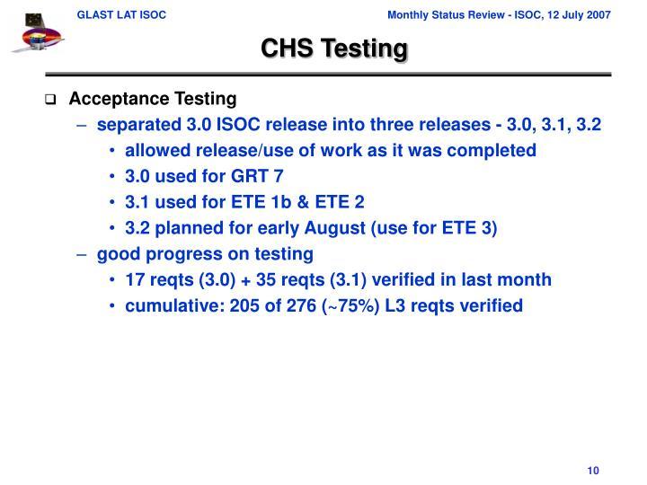 CHS Testing