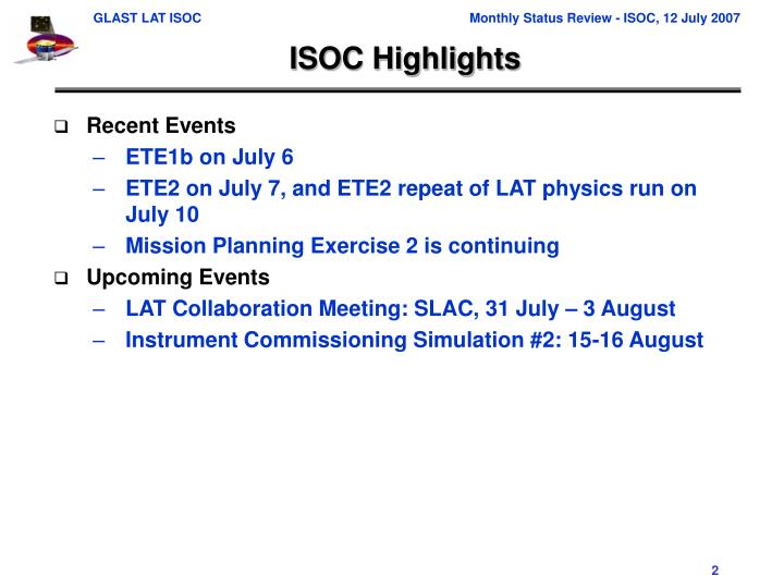 ISOC Highlights