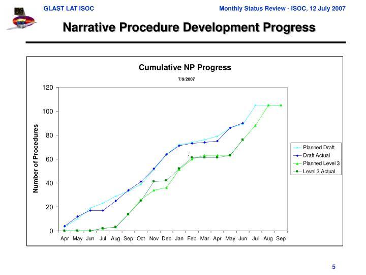 Narrative Procedure Development Progress